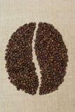 Het teken van de koffieboon Stock Foto's