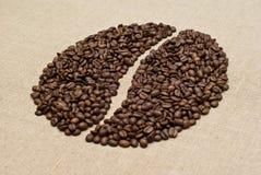 Het teken van de koffieboon Stock Foto