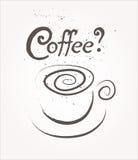 Het teken van de koffiekop Het concept van de reclame Royalty-vrije Stock Afbeeldingen
