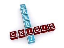 Het teken van de kredietcrisis Stock Foto