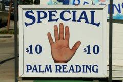Het Teken van de Lezing van de palm Stock Afbeelding