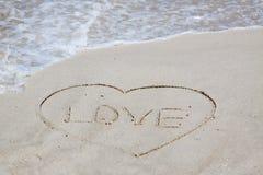 Het teken van de liefde stock fotografie