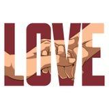 Het teken van de liefde Stock Foto