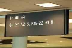 Luchthaventeken royalty-vrije stock afbeeldingen