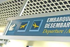 Het Teken van de luchthaven stock foto