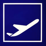 Het teken van de luchthaven Stock Afbeeldingen