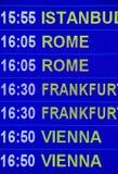 Het teken van de luchthaven - de Informatie van de Vlucht stock fotografie