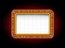 Het Teken van de Markttent van het theater Stock Foto's