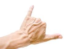 Het teken van de mensenhand Stock Foto
