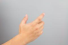Het teken van de mensenhand Royalty-vrije Stock Foto