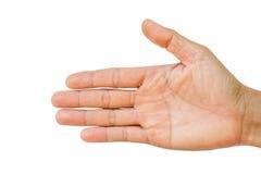 Het teken van de mensenhand Stock Afbeelding