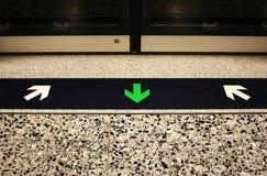 Het Teken van de metro Royalty-vrije Stock Afbeeldingen