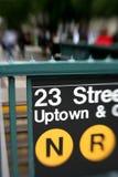 Het teken van de metro stock afbeelding