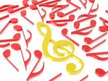Het teken van de muziek Stock Afbeeldingen