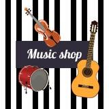 Het Teken van de muziekwinkel royalty-vrije illustratie