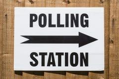 Het Teken van de opiniepeilingspost Stock Fotografie
