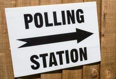 Het Teken van de opiniepeilingspost Stock Foto