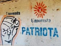 Het Teken van de opstandeling op de Muur in Guatemala Stock Fotografie