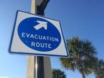 Het teken van de orkaanevacuatie Stock Afbeeldingen
