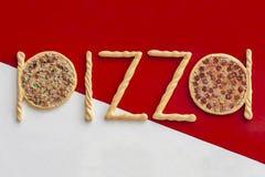 Het teken van de pizza Stock Foto's