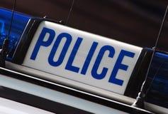 Het teken van de politie Stock Foto's