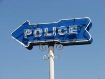 Het Teken van de politie Stock Fotografie
