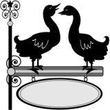 Het teken van de Quackingseend Royalty-vrije Stock Afbeeldingen