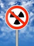 Het teken van de radioactiviteit Stock Afbeeldingen