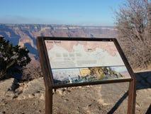 Het teken van de randsleep in Grand Canyon Stock Afbeelding