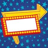 Het Teken van de reclame met Sterren Royalty-vrije Stock Fotografie