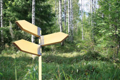 Het teken van de richting. Drie richtingen. royalty-vrije stock foto's