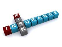 Het teken van de risicoverzekering Stock Afbeelding