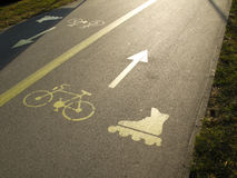 Het teken van de rol en van de fiets Royalty-vrije Stock Fotografie