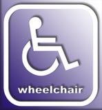 Het teken van de rolstoel Stock Foto