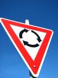 Het teken van de rotonde stock afbeeldingen