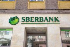 Het teken van de Sberbankbank Stock Afbeelding