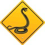 Het teken van de slang Royalty-vrije Stock Fotografie