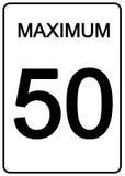 Het Teken van de Snelheid van Maximun vector illustratie