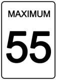 Het Teken van de Snelheid van Maximun stock illustratie