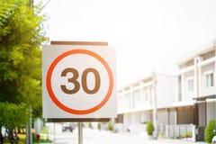 30 het teken van de snelheidsvermindering Royalty-vrije Stock Fotografie