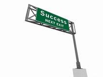 Het Teken van de Snelweg van het succes Royalty-vrije Stock Foto