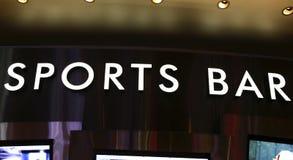 Het teken van de sportenbar Stock Foto's