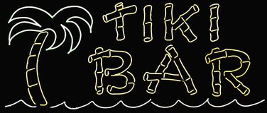 Het Teken van de Staaf van Tiki royalty-vrije stock fotografie