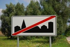 Het teken van de stad Stock Foto's
