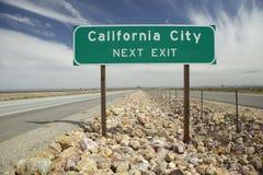 Het teken van de Stad van Californië Stock Foto's