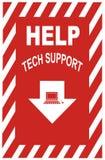 Het Teken van de Steun van technologie Royalty-vrije Stock Fotografie