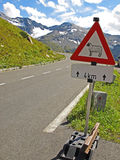Het teken van de straat met schapen stock foto