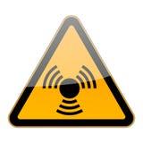 Het teken van de straling Stock Foto