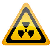 Het teken van de straling Stock Fotografie