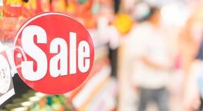 Het teken van de supermarktkorting stock fotografie